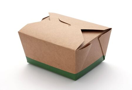Take-Out Box isolated on a white background Banco de Imagens