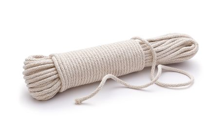 unravel: Rope Cord Unravelled on a white background