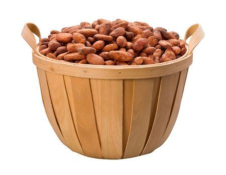 Fava di cacao Carrello isolato su uno sfondo bianco Archivio Fotografico - 4484804