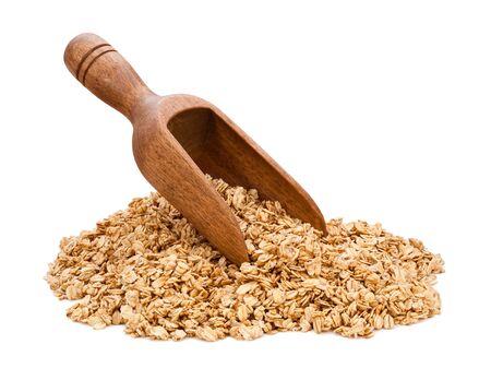 Granola Scoop geïsoleerd op wit