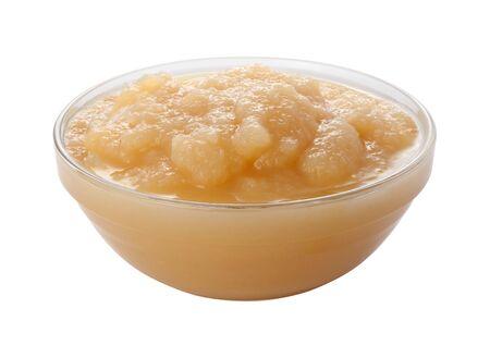 Applesauce in een glazen Bowl Stockfoto