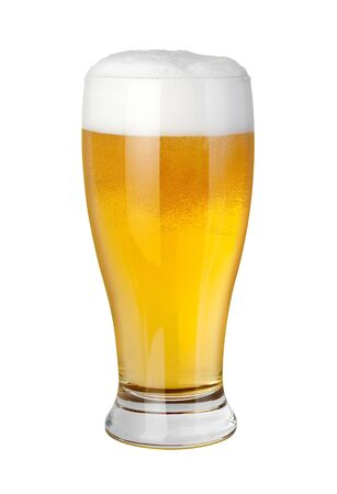 Beer Glass isolated on a white background Stock Photo - 6639569