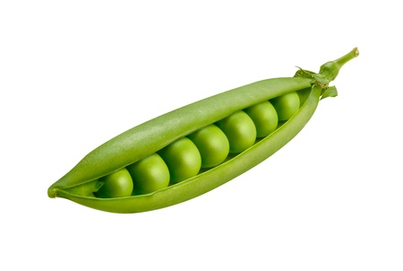 sweet pea: Pea Pod Isolated on a white background Stock Photo