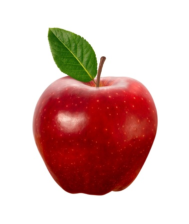 pomme rouge: Red Apple isolé sur blanc