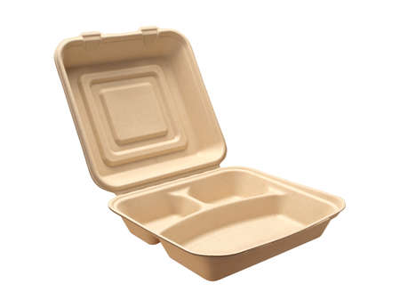 Carry Out Tray isolated on white with a clipping path