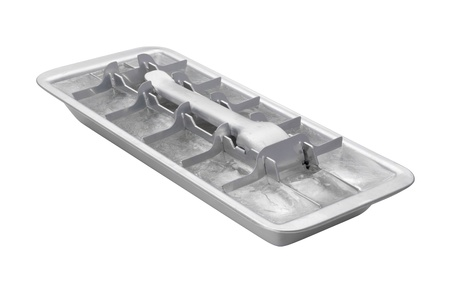 Vintage Ice Cube Tray isolated on white