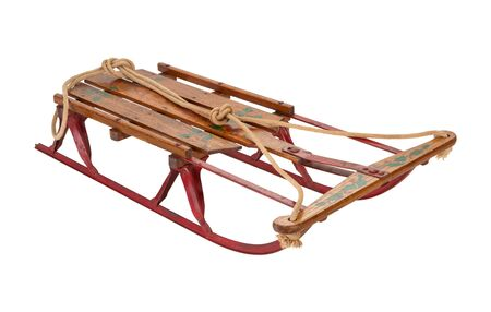antique sleigh: Antique Sled isolated on white