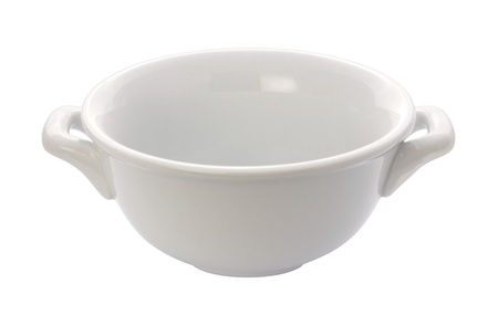 crock: Soup Crock Bowl isolated with a clipping path Stock Photo