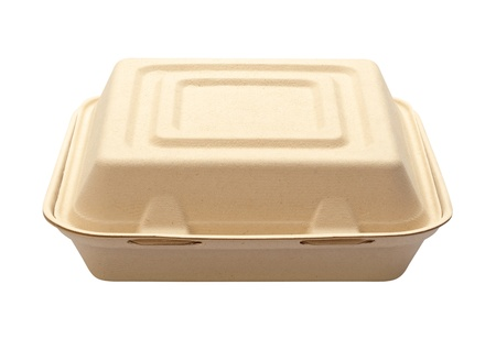 Take Out Box isolated on white with a clipping path Stock Photo