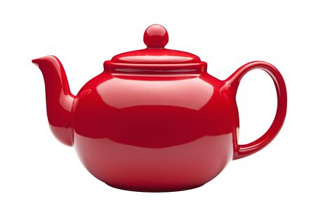 Red Teapot isolated on white