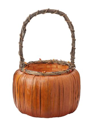Pumpkin Basket isolated on a white background Stock Photo - 14712724