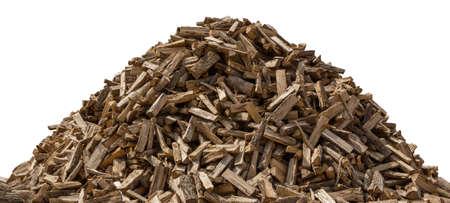 woodpile: Big Woodpile isolated on a white background Stock Photo