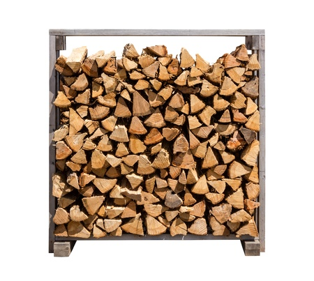 Stacked Firewood isolated on a white background