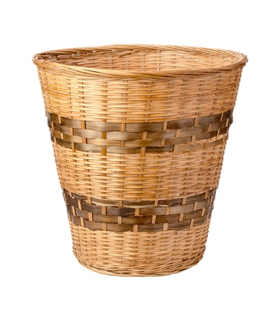 wastebasket: Wastebasket isolated on white with a clipping path