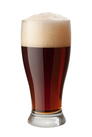 Dark Ale Isolated on white  photo