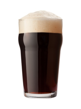 draught: English Stout Isolated on white