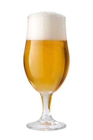 beer bubbles: Belgian Ale  Beer  Isolated