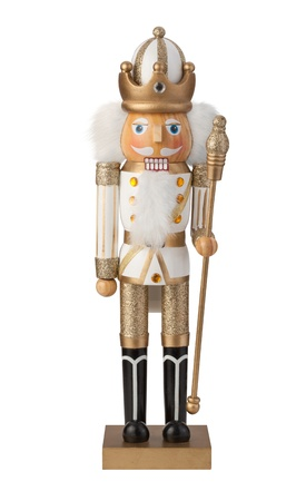 christmas military: Nutcracker Isolated on a white background