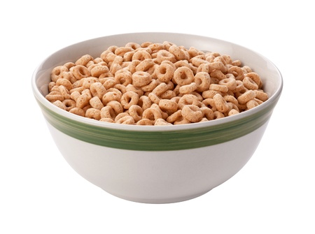 Oat Cereal Isolated with clipping path on a white background
