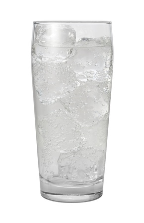 seltzer: Club Soda Water Isolated with clipping path on a white background