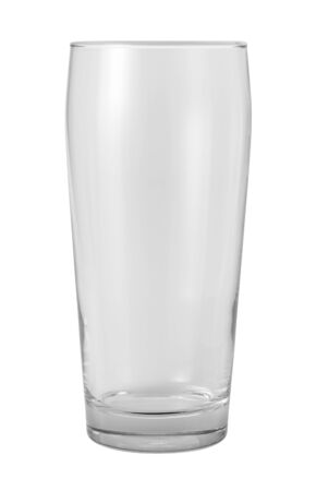 Empty Glass Isolated with clipping path on a white background Stock Photo - 16834149