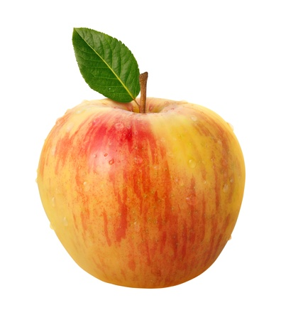 Honeycrisp Apple Isolated with clipping path on a white background