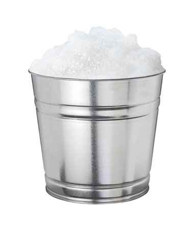 soapsuds: Soapsuds Bucket Isolated on a white background Stock Photo