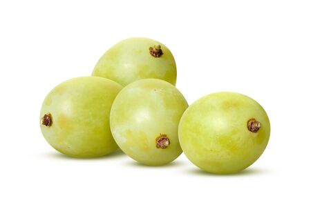 White Grapes Isolated with clipping path on a white background Stock Photo - 16834147