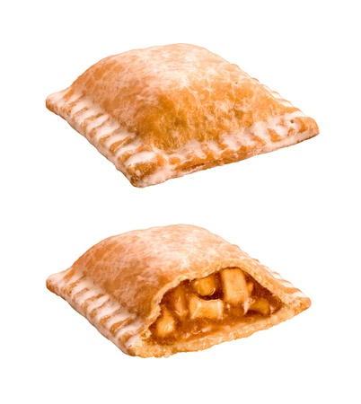 Apple Pie Snack Isolated on a white background photo