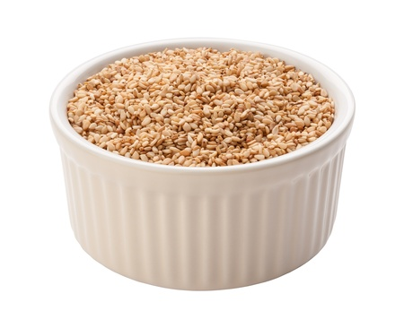 Sesame Seeds Isolated with clipping path on a white background Stock Photo - 17514818