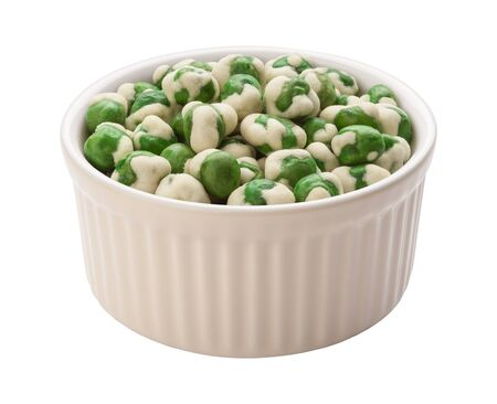 Wasabi Peas Isolated with clipping path on a white background Stock Photo - 17514814