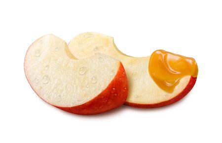 Apple Caramel isolated on white background