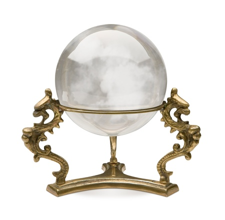 Crystal Ball isolated on a white background with a clipping path photo