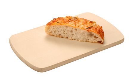 Focaccia Board isolated on a white with a clipping mask.   photo