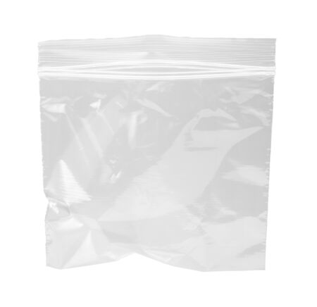 Resealable Plastic Bag, isolated on white with a clipping path.