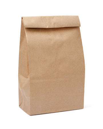 Brown Lunch Bag isolated on white