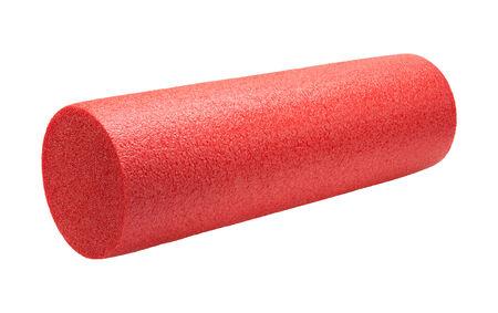Red High Density Foam Oefening Roller geïsoleerd op wit.