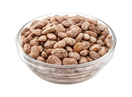 pinto: Pinto Beans in a Glass Bowl.