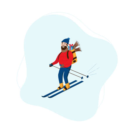 Man delivers Christmas gift on skis fast