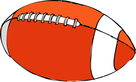 Rugby ball, isolated vector icon. Athletic equipment, healthy lifestyle, fitness activity illustration.