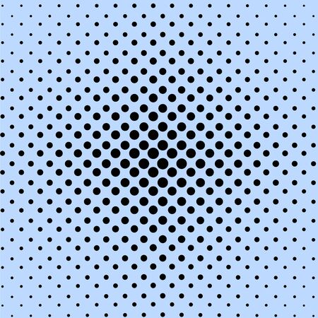 Abstract blue and black dotted background, vector illustration. Vectores