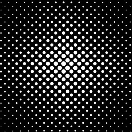 Abstract black and white dotted background, vector illustration. Vectores