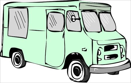 illustration. camper trailer icon
