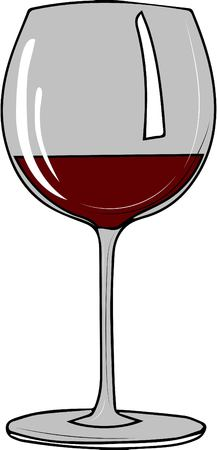 vector illustration. glass of red wine.