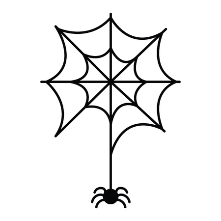Spider hanging from the web icon.