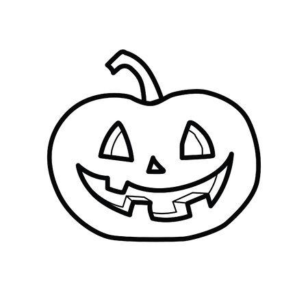 Crazy pumpkin vector icon Ilustração