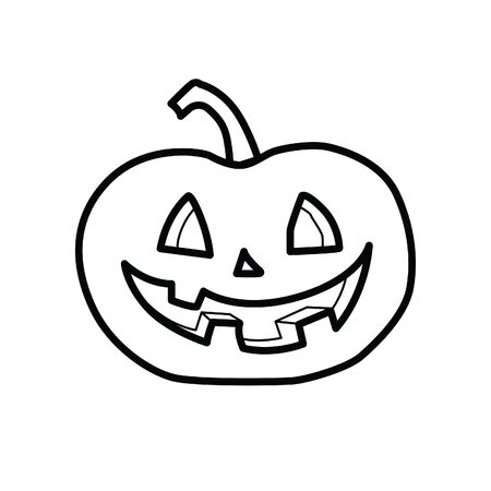 Crazy pumpkin vector icon Illustration