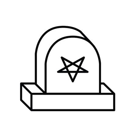 Halloween gravestone vector icon