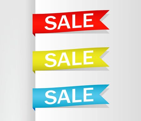 Collection of Sale, Banners, Labels, Tags, Tally Emblems, Cards, Flat design. Vector illustration