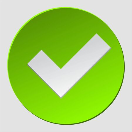 Green check in circle. Check mark sign approved. Ok, yes icon, simbol. Okey symbol for approvement. vector eps 10
